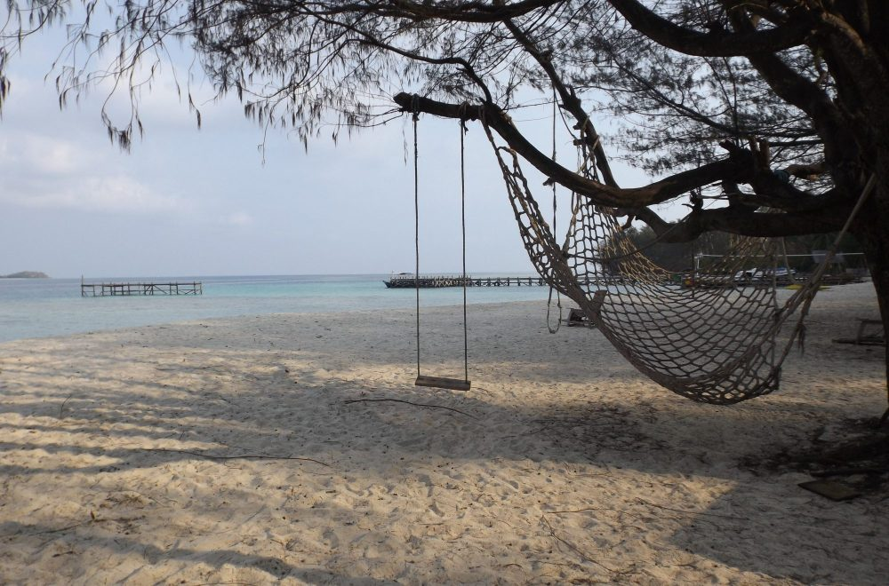 Traumstrand von Pulau Menjangan-Kecil