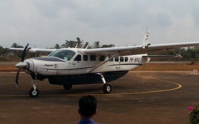 Karimunjawa – Privatflug in einer Propellermaschine