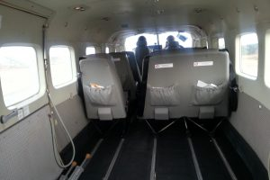 Innenraum des Privatflugzeuges Karimunjawa