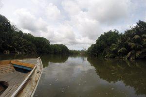 Bootsbug auf dem Brunei River