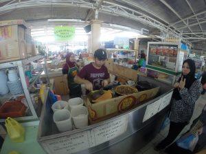 Typischer Markt in Brunei