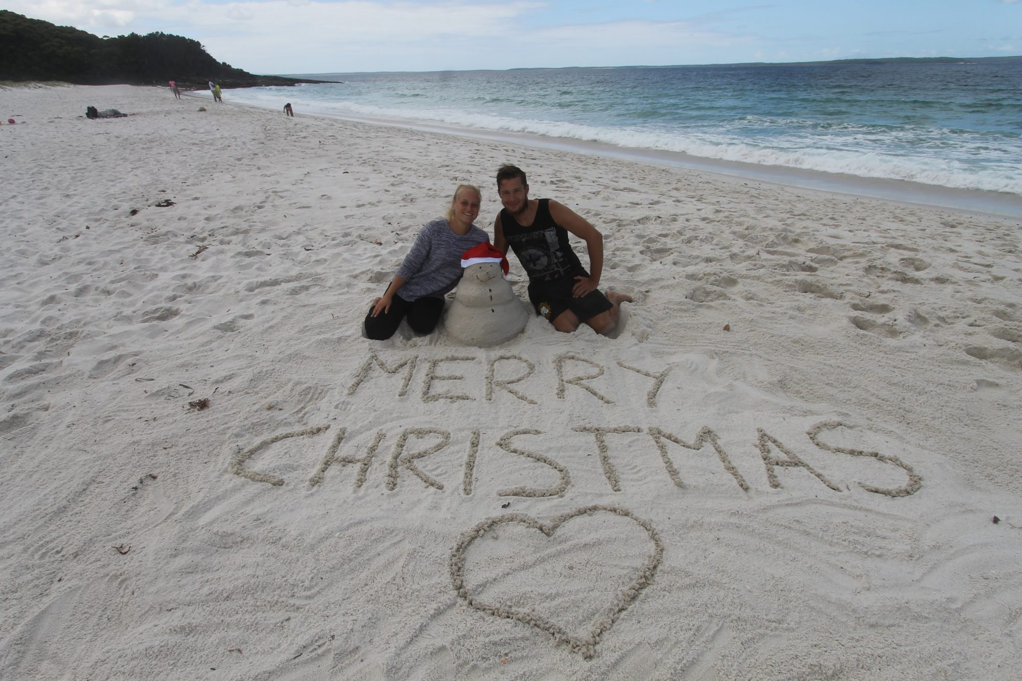 Sandmann am Hyams Beach