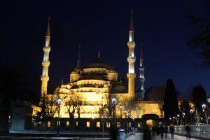 Blaue Moschee Istanbul bei Nacht