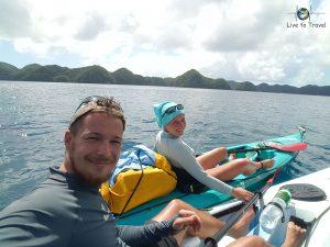 Da konnten wir noch lachen beim Kajaken in Palau