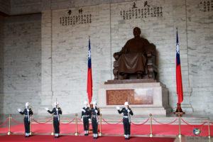 Eine Statue vom Präsidenten