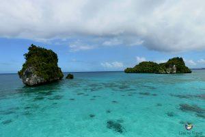 ein traumhafter Ausblick auf die Rock Islands
