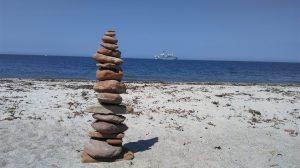 Steinmännchen auf Helgoland