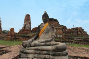 Buddha Tempelruine Ayutthaya