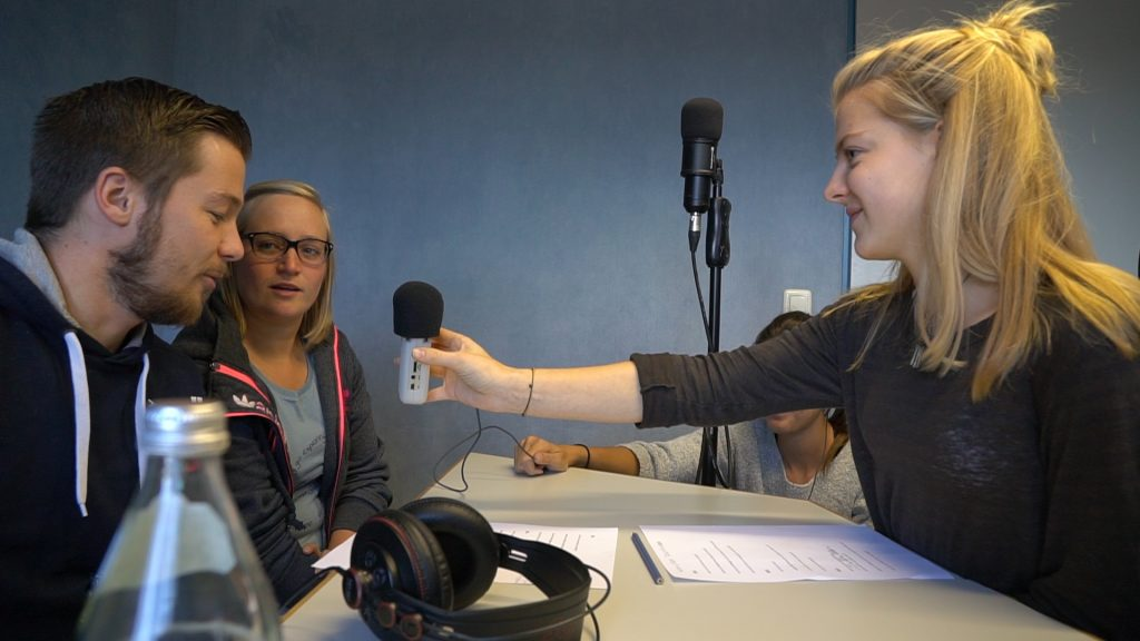 Interview im Radio