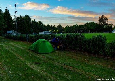 Campen im Stadtpark von Hamilton
