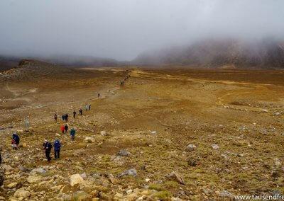 Auf dem Weg zum Red Crater...