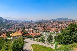 Bei diesem Ausblick von der gelber Bastion Sarajevo…