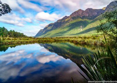 Mirror Lake im Fjordland Nationalpark