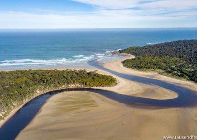 In Papatowai schlängelt sich der Tahakopa River ins Meer