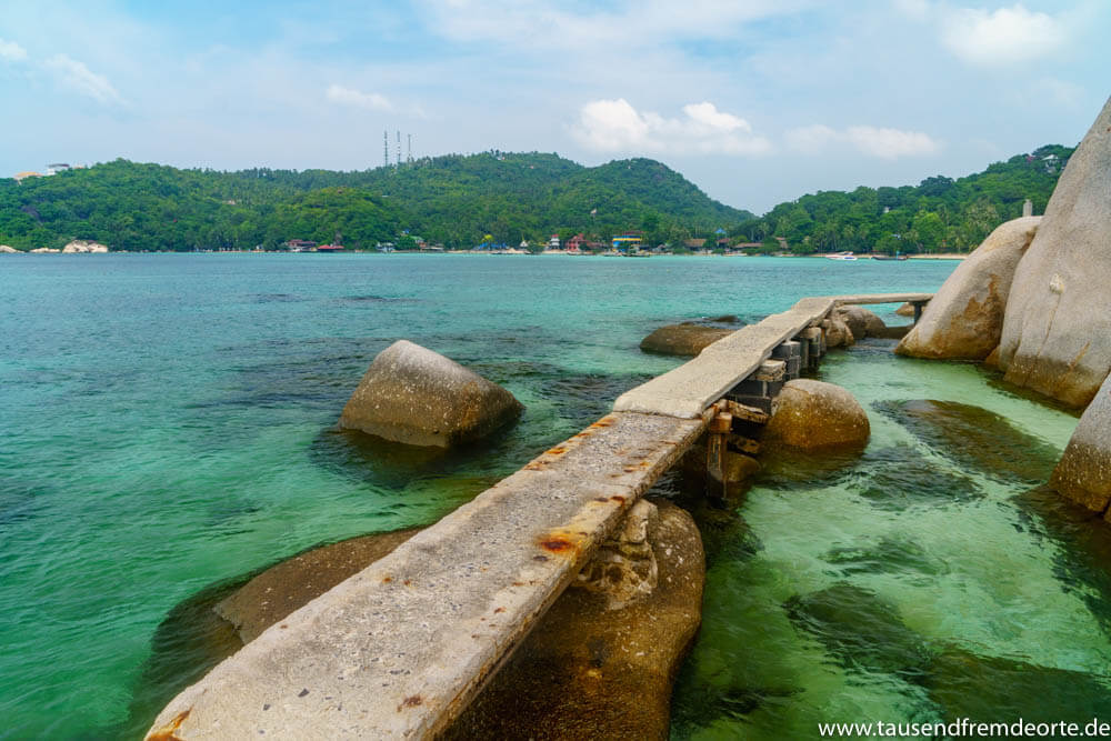 Betonweg Freedom Beach Koh Tao