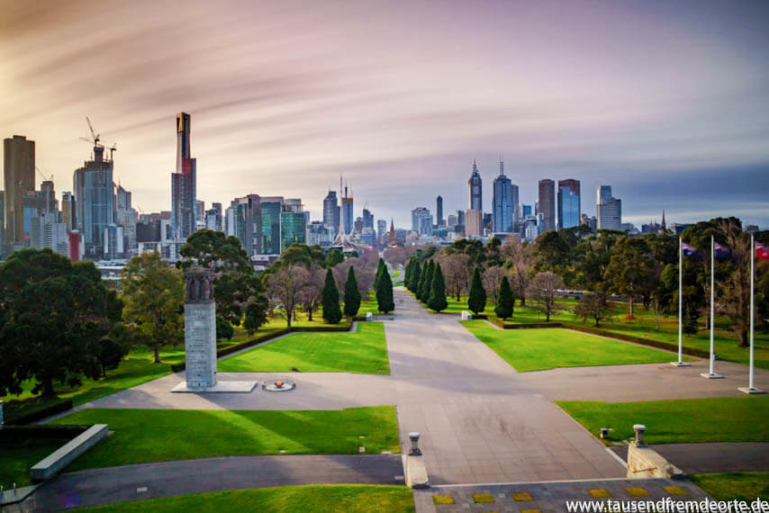 Melbourne Sehenswürdigkeit Shrine of Remembrance