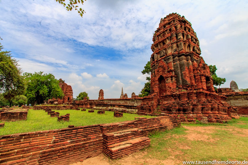 Tempelruine in Ayutthaya Thailand