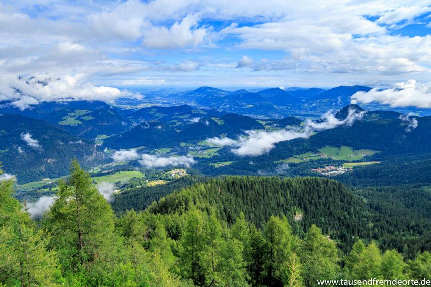 Bergpanorama vom Kehlsteinhaus in Bayern