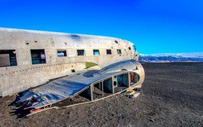 Das Flugzeugwrack in Island