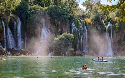 Kravica Wasserfälle Naturschauspiel in der Region Herzegowina