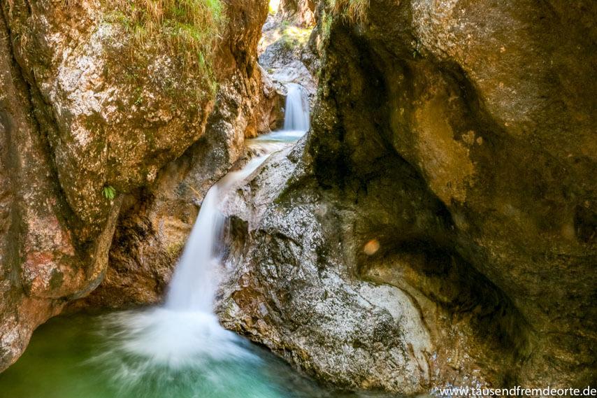 Almbachklamm Wasserfall im Berchtesgadener Land