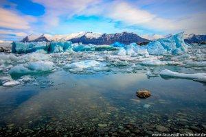 Gletscherlagune Jökulsarlon Eisberge