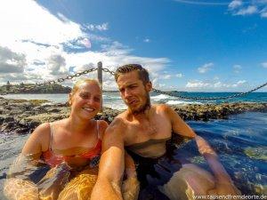 Selfie im Pool Am Strand in Australien
