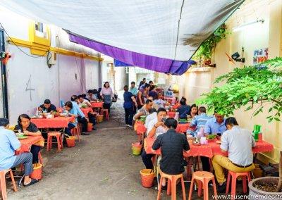 Restaurant für Pho in Saigon