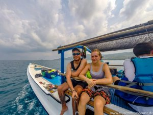 Selfie auf einer Bootstour auf Karimunjawa