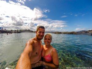 Selfie am Strand in Australien