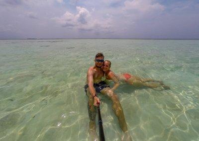Selfie auf Karimunjawa im Meer