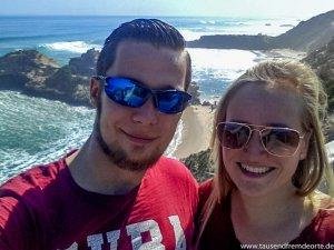Selfie an der Küste in Sorrento