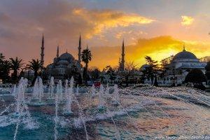 Sonnenuntergang Mosche in Istanbul