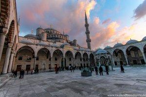 Innenhof Mosche in Istanbul