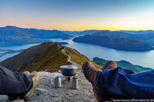Kaffepause Roys Peak