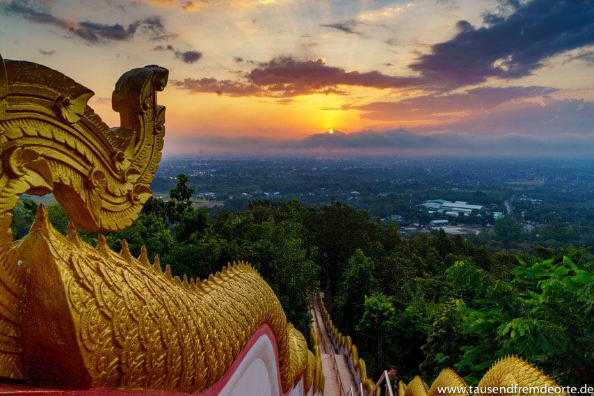 Chiang Mai Tempel Sonnenaufgang